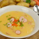 Krémová bramborová polévka s párkem