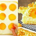 Meruňkový koláč s tvarohovou náplní