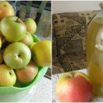 Pyré ze svařených jablek s čerstvou mátou