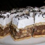 Jemný koláč s rumovou a kakaovou příchutí